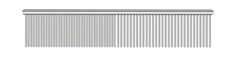 Stainless steel grooming comb.