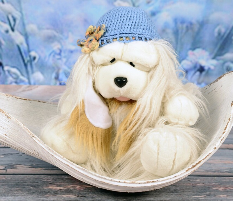 A look alike comfort toy suitable for a shih tzu.