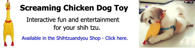 Screaming Chicken Dog Toy banner link.